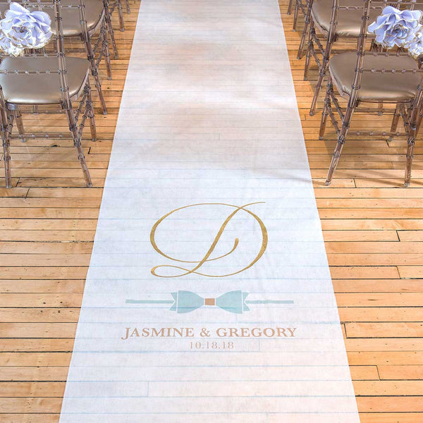 Bow-Tie Personalized Glitz & Glam Aisle Runner-Aisle Runner-Here Comes The Bling™