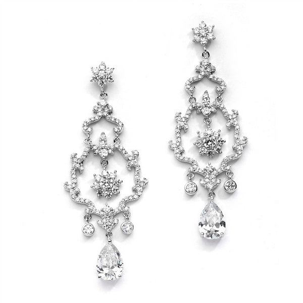 Breathtaking Best-Selling Jewel Encrusted CZ Chandelier Earrings-Earrings-Here Comes The Bling™