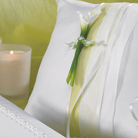 Bridal Beauty Calla Lily Square Ring Pillow-Ring Pillow-Here Comes The Bling™