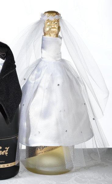 Bride Bottle Cover-Wine Accessories-Here Comes The Bling™