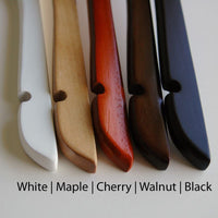 """Bride"" & ""Groom"" Engraved Natural Wooden Hangers (Available in 4 Colors)-Hangers-Here Comes The Bling™"