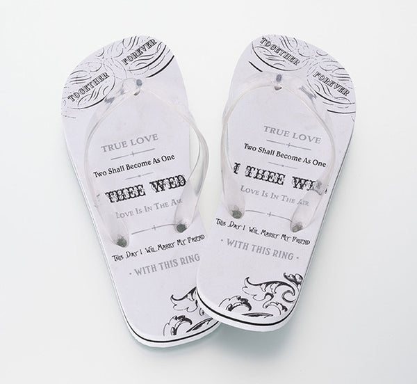 "Brides ""I Thee Wed"" Flip Flops-Flip Flops-Here Comes The Bling™"