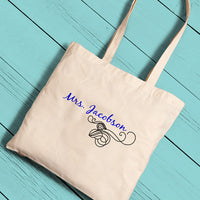 Brides Perfect Tote (In 11 Pattern Choices)-Tote Bags-Here Comes The Bling™