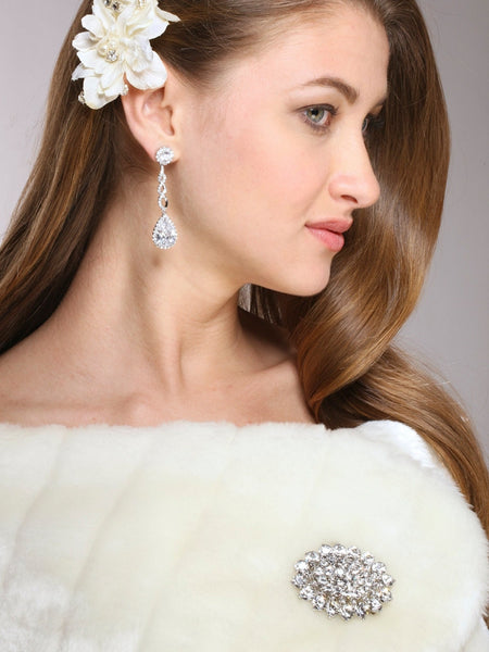 Brilliant Crystal Cluster Bridal Pin-Brooches-Here Comes The Bling™