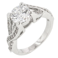 Brilliant Twist Engagement Ring-Rings-Here Comes The Bling™