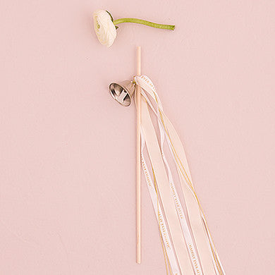 Bulk Order: 15+ (kits of 12)- DIY Ribbon Wands-Favors-Bell-Here Comes The Bling™