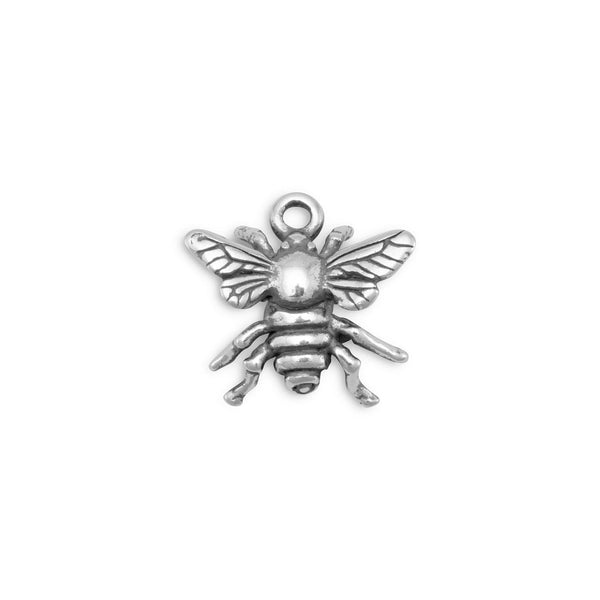Bumble Bee Charm in Sterling Silver-Here Comes The Bling™