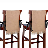 Burlap Chair Covers (set of 2)-Decor-Chairs-Here Comes The Bling™