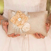 Burlap Chic Ring Pillow-Ring Pillow-Here Comes The Bling™