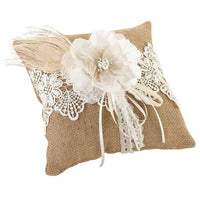 Burlap & Lace Ring Pillow-Ring Pillow-Here Comes The Bling™