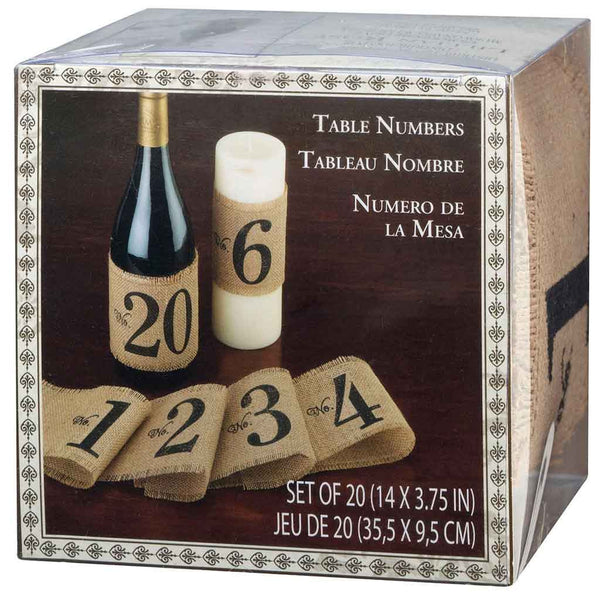 Burlap Table Number Wraps-Table Numbers-Here Comes The Bling™