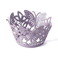 Butterfly Filigree Shimmer Cupcake Wraps-Cake Toppers-Here Comes The Bling™