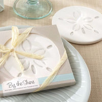 """By the Shore"" Sand Dollar Coaster (Set of 4)-Favors-Coasters-Here Comes The Bling™"