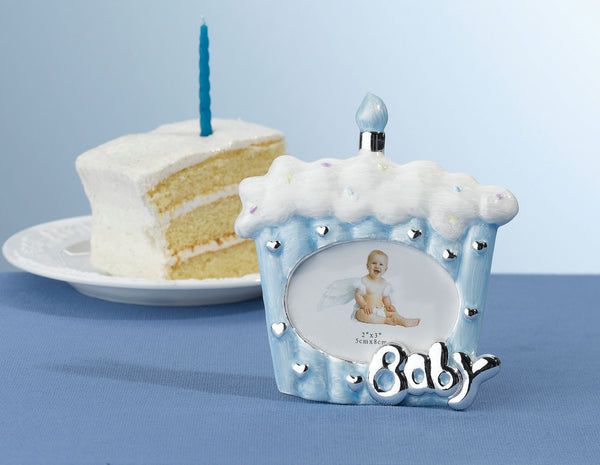 Cake Baby Frame 2x3 Blue-Frames-Here Comes The Bling™