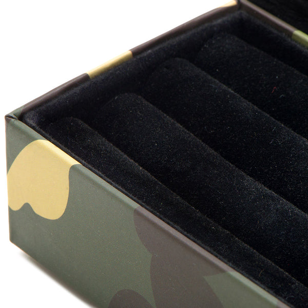 Camouflage Multi Pair Cufflinks Travel Case-Mens-Cases-Here Comes The Bling™