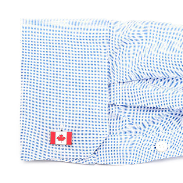 Canadian Flag Cufflinks-Cufflinks-Here Comes The Bling䋢