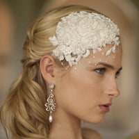 Cassidy Fascinator (Available in Ivory or White)-Fascinators-Here Comes The Bling™