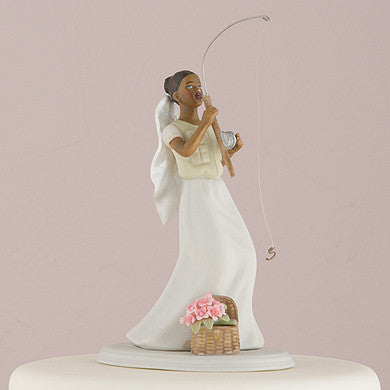 """Catch of the Day"" Ethnic Cake Topper( Select From 7 Hair Colors )-Cake Toppers-Here Comes The Bling™"