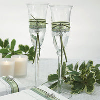 Celtic Wedding Champagne Flutes-Toasting Flutes-Here Comes The Bling™