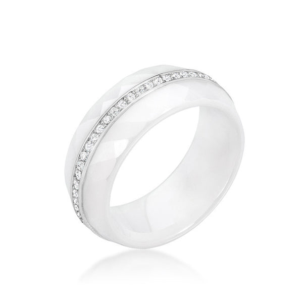 Ceramic Band Ring - White-Rings-Here Comes The Bling™