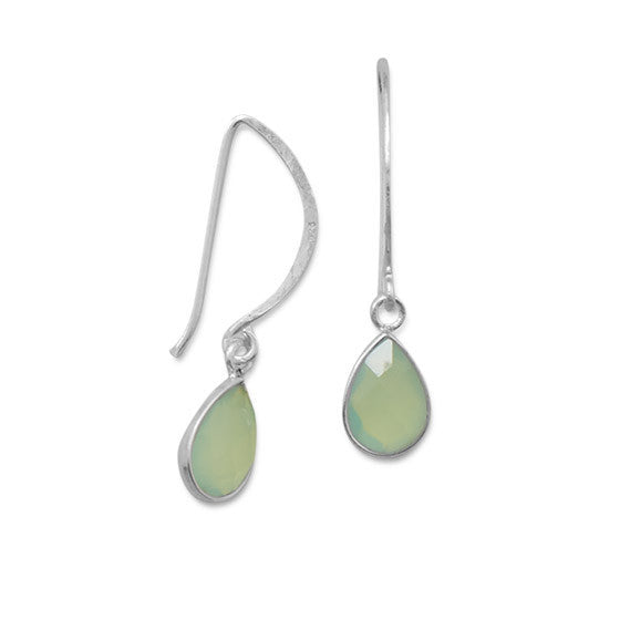 Chalcedony Wire Earrings-Earrings-Here Comes The Bling™