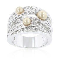 Champagne Pearl Cocktail Ring-Rings-Here Comes The Bling™