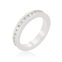 Channel Set Staclkable Eternity Band-Rings-Here Comes The Bling™
