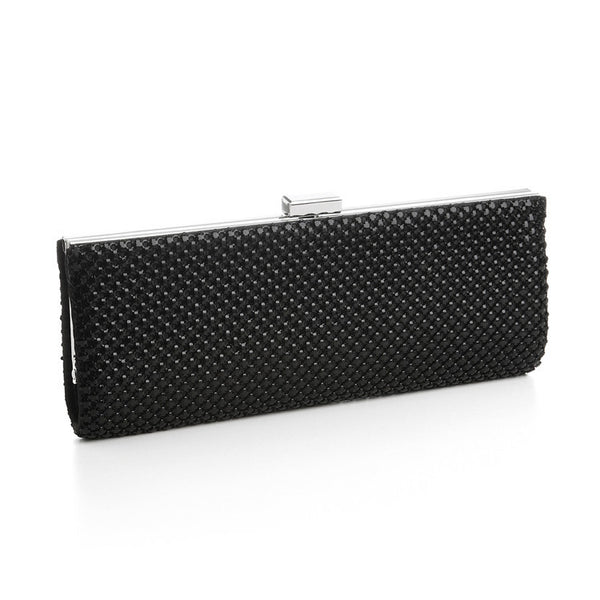 Chic Mesh Clutch Evening Purse</b>Black-Clutch-Here Comes The Bling™