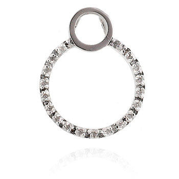 Circle Cubic Zirconia Pendant-Pendants & Charms-Here Comes The Bling