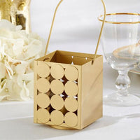 """Circle of Love"" Classic Gold Lantern (Set of 6)-Favors-Candle Holders-Here Comes The Bling™"