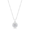 Classic Birthstone Bella Pendant Necklace in Diamond Clear-Necklaces-Here Comes The Bling