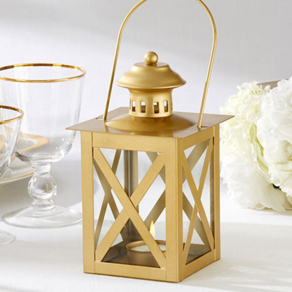 Classic Gold Lantern-Favors-Candle Holders-Here Comes The Bling™