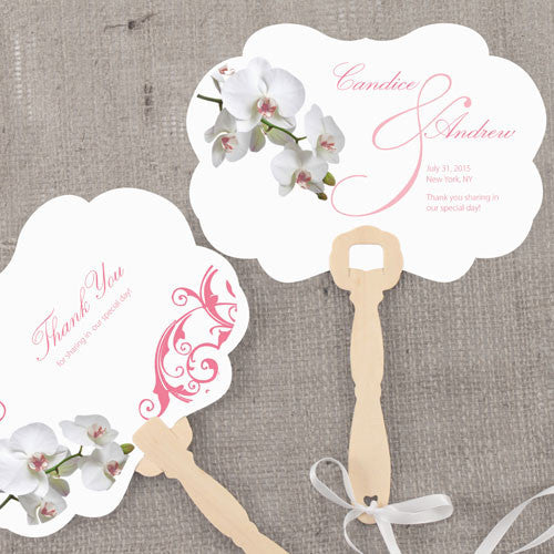 Classic Orchid Personalized Hand Fan-Favors-Fans-Here Comes The Bling™