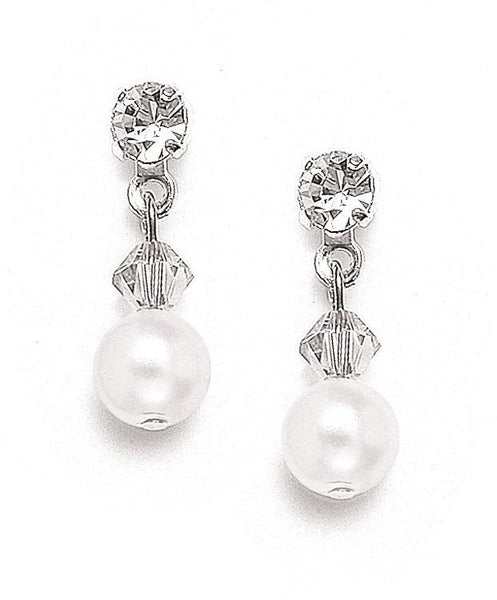 Classic Pearl & Crystal Drop Clip-On Earrings-Earrings-Here Comes The Bling™