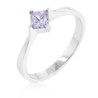 Classic Petite Lavender Purple Solitaire Ring-Rings-Here Comes The Bling™