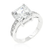 Classic Princess Cut Raised Pave Engagement Ring-Rings-Here Comes The Bling™
