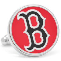 Classic Red Boston Red Sox Cufflinks-Cufflinks-Here Comes The Bling™
