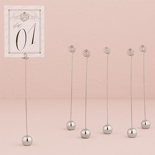 Classic Round Stationery Holder in Silver Pack of 6-Table Numbers-Here Comes The Bling™