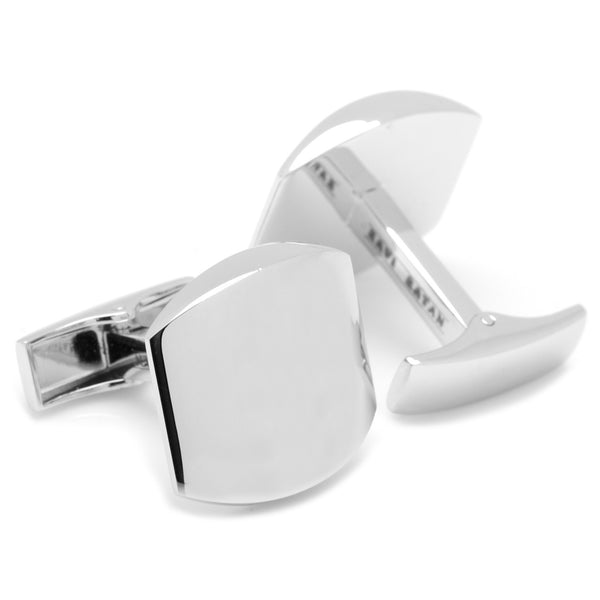 Classic Silver Engravable Cufflinks-Cufflinks-Here Comes The Bling™