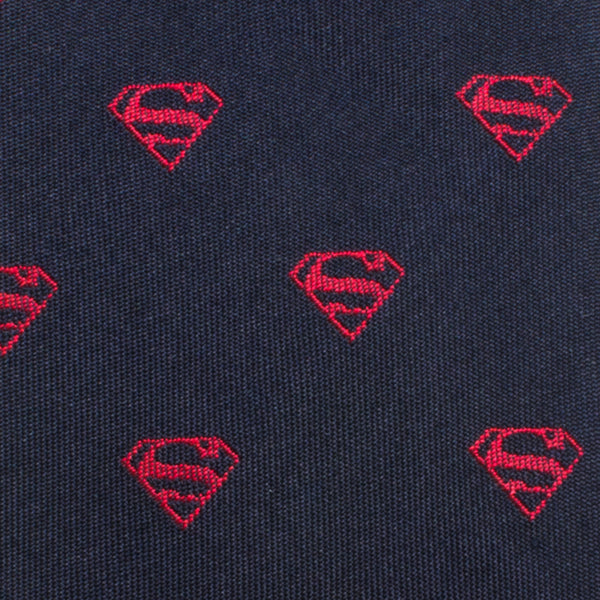 Classic Superman Shield Boys' Zipper Silk Tie-Boys-Ties-Here Comes The Bling™