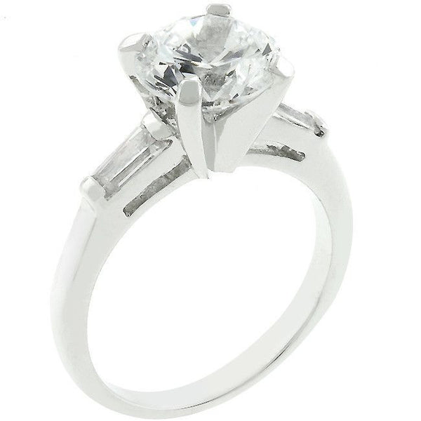 Classic Triple White Engagement Ring-Rings-Here Comes The Bling™