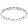 Clear Cubic Zirconia Eternity Ring-Rings-Here Comes The Bling™