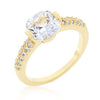 Clear Cushion Cut Cubic Zirconia Ring-Rings-Here Comes The Bling™