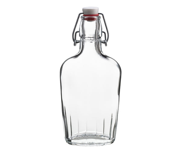 Clear Glass Flask 8.5 oz-Barware-Here Comes The Bling™