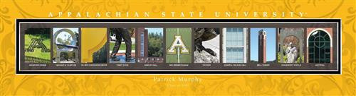 College Campus Art - Appalachia State University-Art-Here Comes The Bling™