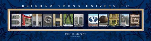 College Campus Art - Brigham Young University-Art-Here Comes The Bling™