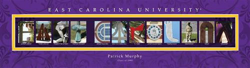 College Campus Art - East Carolina University-Art-Here Comes The Bling™