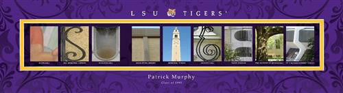 College Campus Art - LSU Tigers-Art-Here Comes The Bling™
