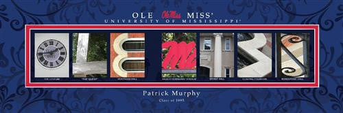 College Campus Art - University of Mississippi-Art-Here Comes The Bling™