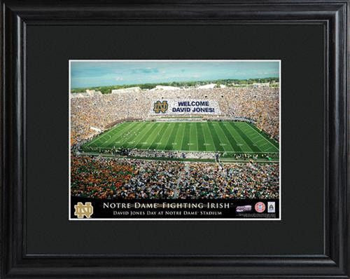 College Stadium Print with Wood Frame - NOTREDAME-Art-Here Comes The Bling™